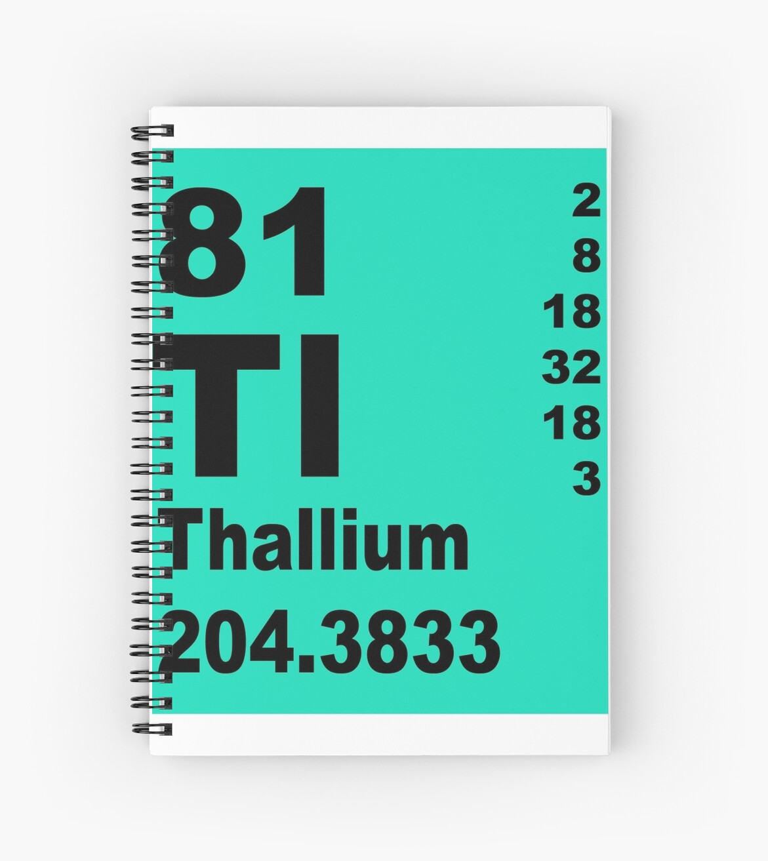 Thallium periodic table of elements spiral notebooks by thallium periodic table of elements by walterericsy urtaz Choice Image