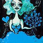Bleu, je t'aime by Barbara Cannon  ART.. AKA Barbieville