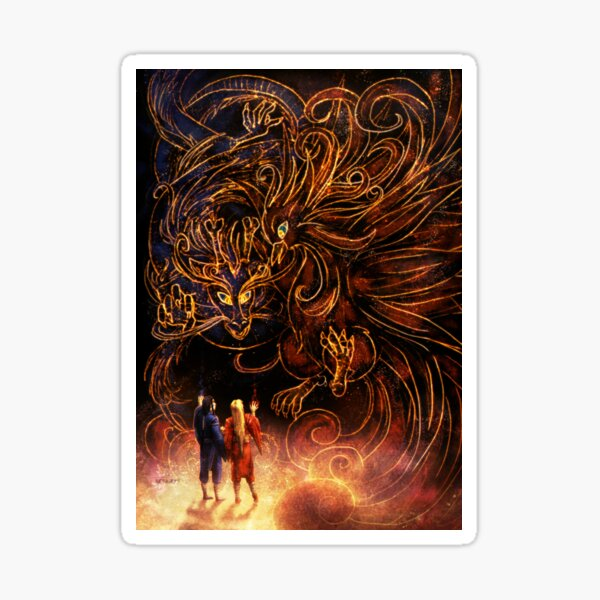 Night of Dragon and Phoenix Sticker
