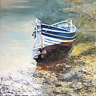 Mizpah a Staithes Double Ender in Roxby Beck by Sue Nichol