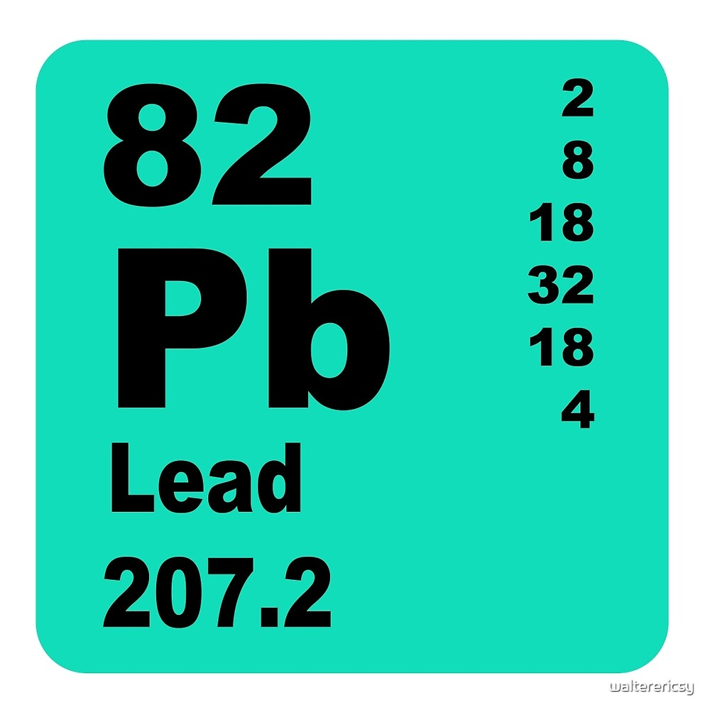 Lead periodic table of elements by walterericsy