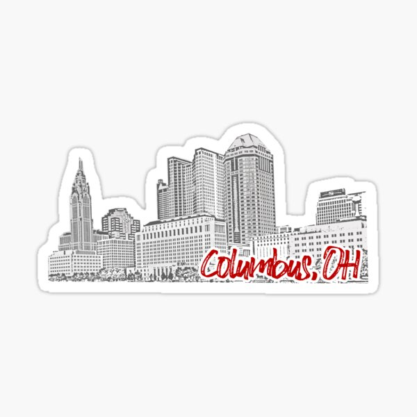 Columbus OH Skyline Sticker