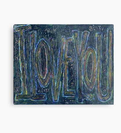 I Love You -  Brianna Keeper Painting Metal Print