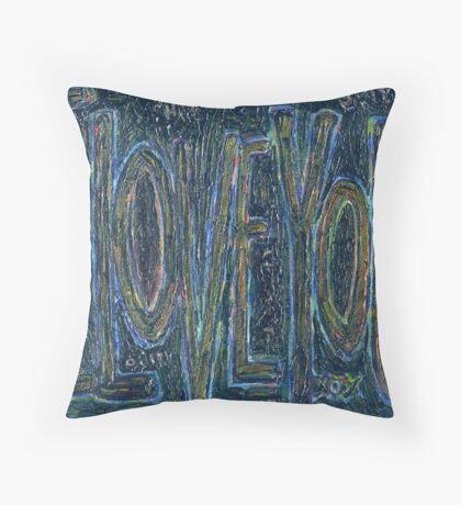I Love You -  Brianna Keeper Painting Throw Pillow