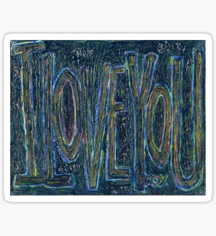 I Love You -  Brianna Keeper Painting Sticker