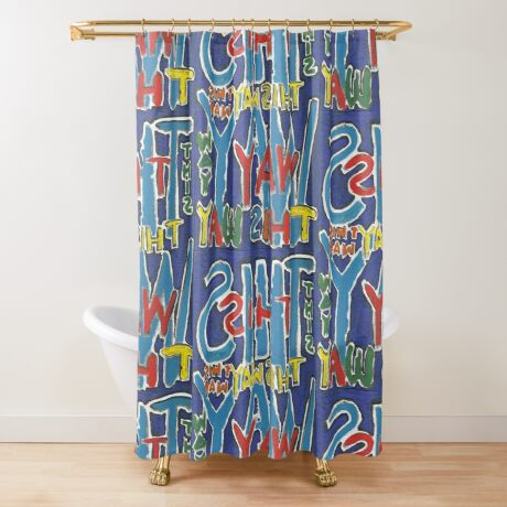This Way - Brianna Keeper Painting Shower Curtain