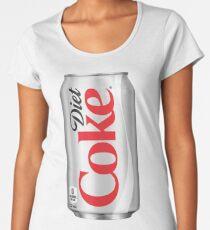 Camiseta premium de cuello ancho Coca dietética