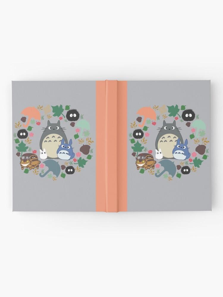 Alternative Ansicht von Mein Nachbar Totoro Kranz - Anime, Catbus, Ruß Sprite, Blau Totoro, Weiß Totoro, Senf, Ocker, Regenschirm, Manga, Hayao Miyazaki, Studio Ghibl Notizbuch