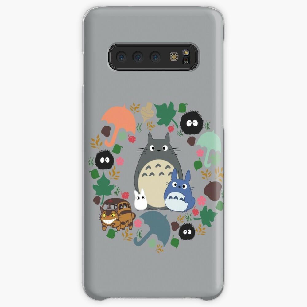 Mein Nachbar Totoro Kranz - Anime, Catbus, Ruß Sprite, Blau Totoro, Weiß Totoro, Senf, Ocker, Regenschirm, Manga, Hayao Miyazaki, Studio Ghibl Hülle & Klebefolie für Samsung Galaxy