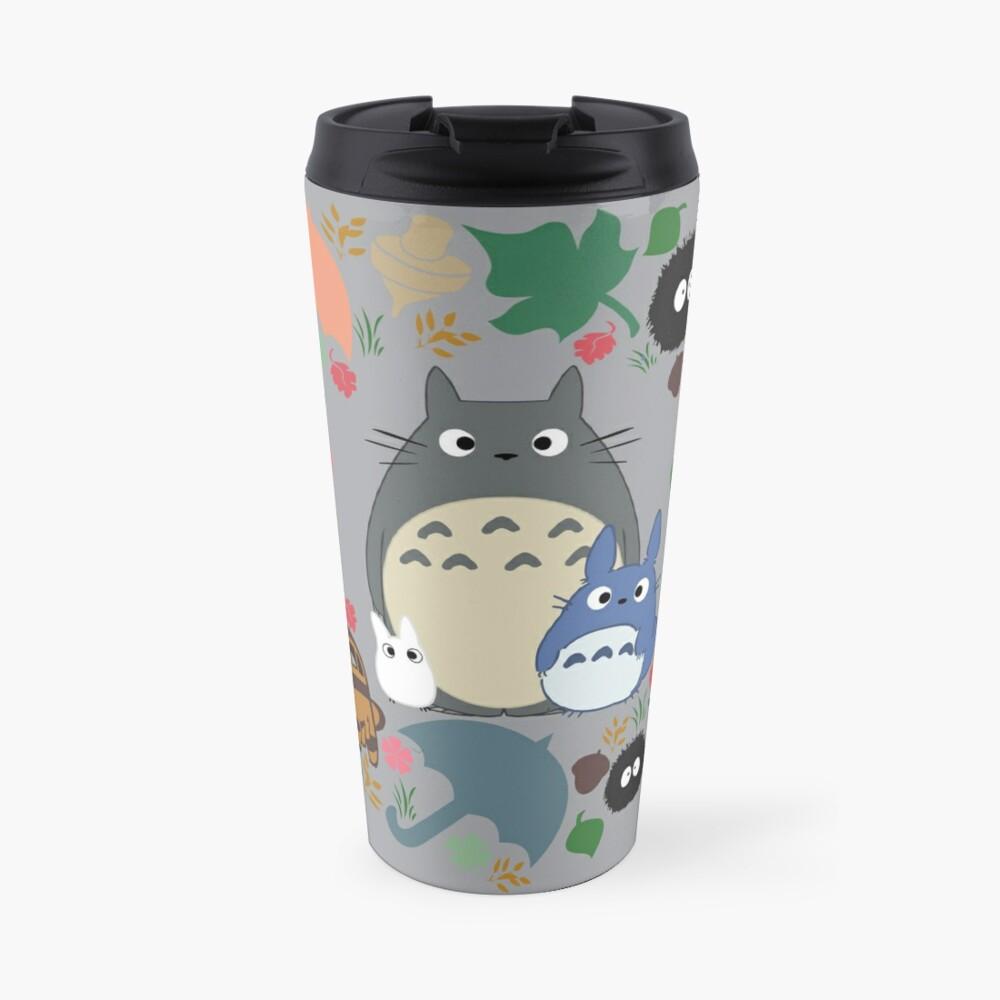 Mein Nachbar Totoro Kranz - Anime, Catbus, Ruß Sprite, Blau Totoro, Weiß Totoro, Senf, Ocker, Regenschirm, Manga, Hayao Miyazaki, Studio Ghibl Thermobecher