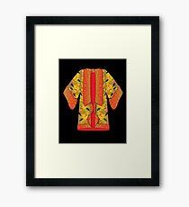 Red Kimono Framed Print