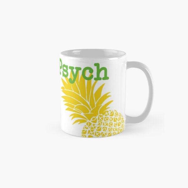 Minimalist Psych TV Show Pop Culture Lime Yellow Fun Green Pineapple Classic Mug