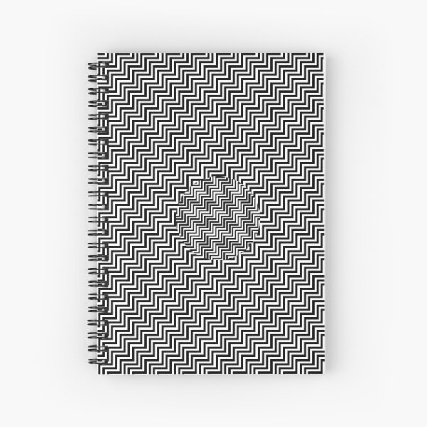 #Op #art - art movement, short for optical art, is a style of visual art that uses optical illusions #OpArt #OpticalArt Spiral Notebook