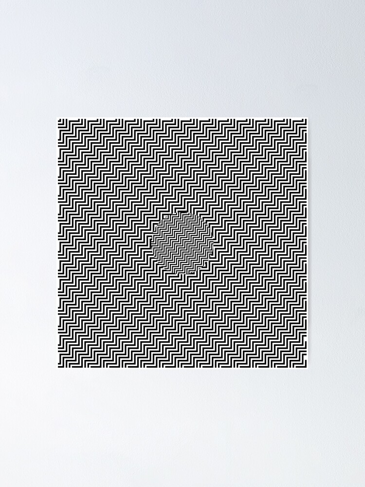 Alternate view of #Op #art - art movement, short for optical art, is a style of visual art that uses optical illusions #OpArt #OpticalArt Poster
