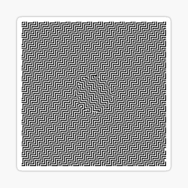 #Op #art - art movement, short for optical art, is a style of visual art that uses optical illusions #OpArt #OpticalArt Sticker
