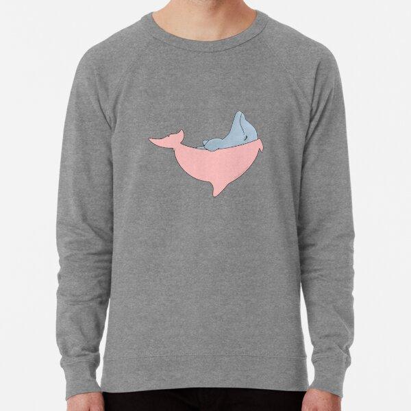 Newborn Dolphin with Pink Blanket Lightweight Sweatshirt
