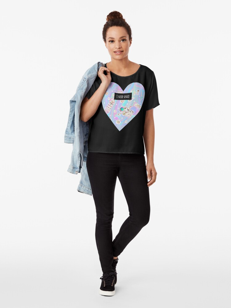 Alternate view of I need space (heart) Chiffon Top