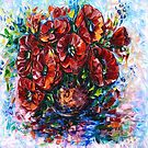 Rote Mohnblumen in einer Vase von OLena Art von OLena  Art ❣️