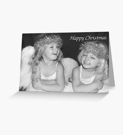 Laughing Angels Greeting Card
