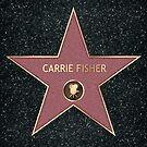 Carrie Fisher Hollywood Star von Grundelboy