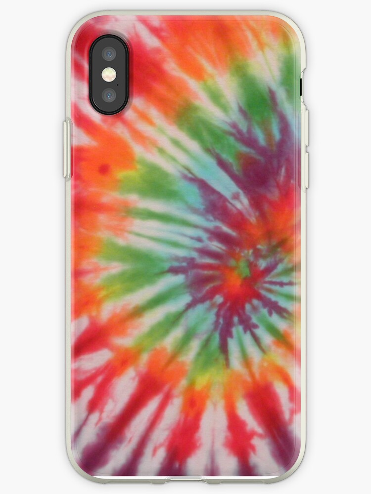 Retro Colorful Psychedelic Tie Dyed Pattern by frittata