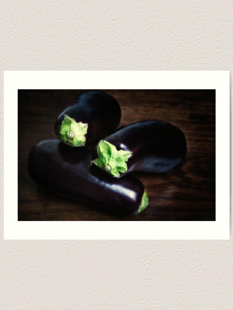 Alternate view of Eggplants Still life Art Print