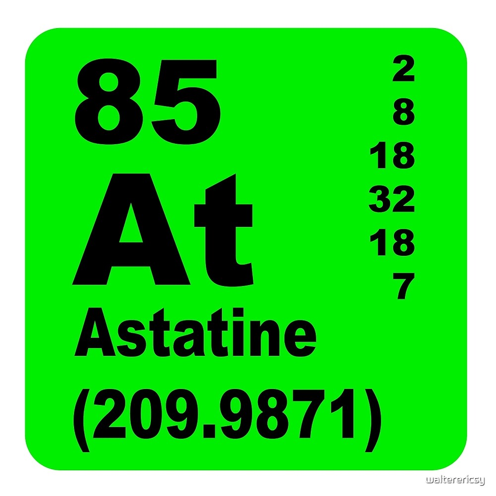 Astatine periodic table of elements by walterericsy