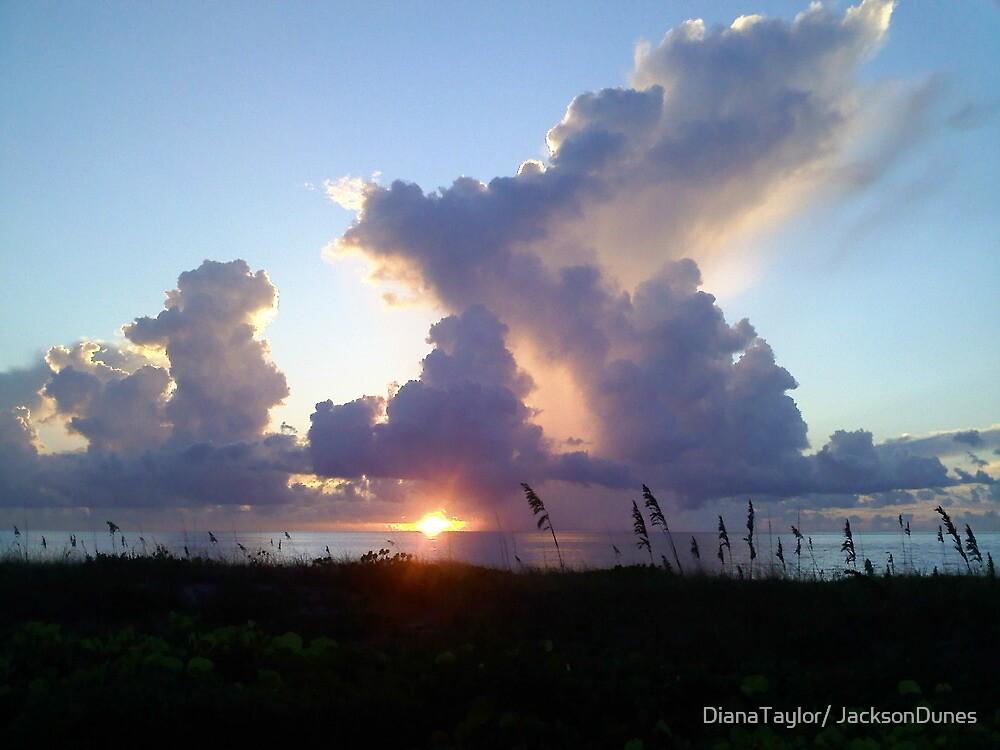 Sunrise & Clouds Dance At The Beach by DianaTaylor/ JacksonDunes