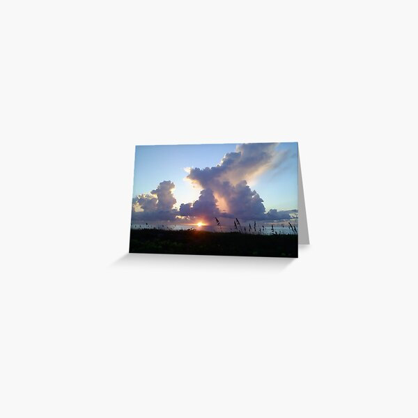 Sunrise & Clouds Dance At The Beach Greeting Card