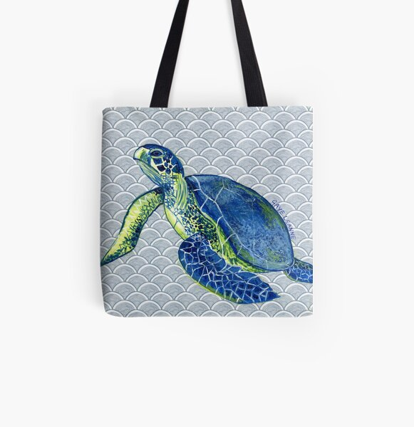 Turtle Dude All Over Print Tote Bag