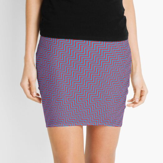 #Op #art - art movement, short for optical art, is a style of visual art that uses optical illusions #OpArt #OpticalArt Mini Skirt