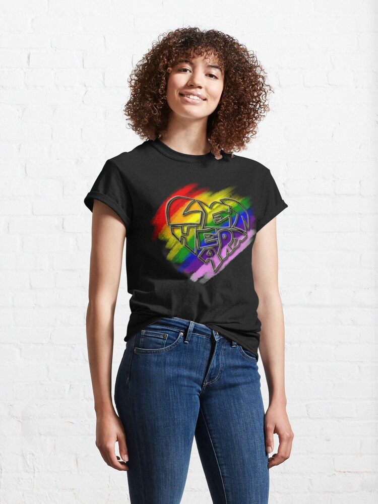 Alternate view of Let Heart - Pride Classic T-Shirt