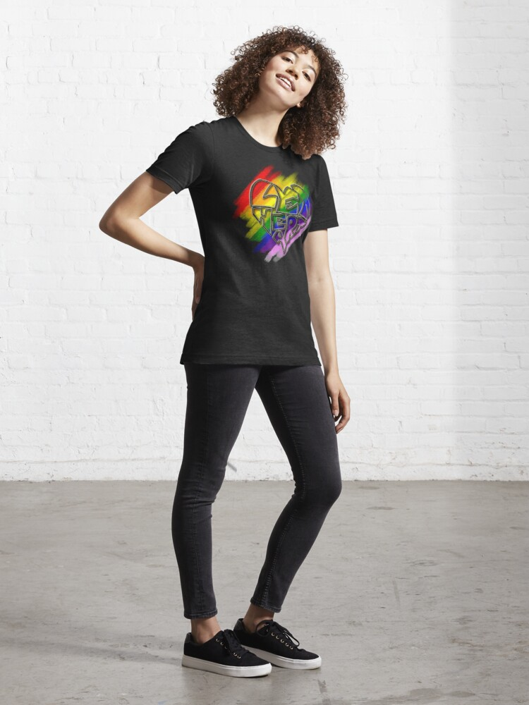 Alternate view of Let Heart - Pride Essential T-Shirt