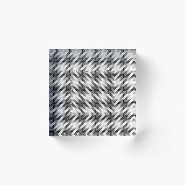 #Op #art - art movement, short for optical art, is a style of visual art that uses optical illusions #OpArt #OpticalArt Acrylic Block