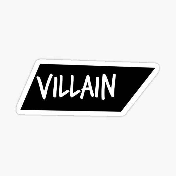 Villain Skewed White und Black Box Logo Brand Sticker