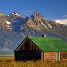 Cabin in Grand Tetons by Justin Baer