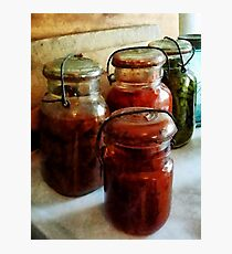 Tomatoes and String Beans in Canning Jars Photographic Print
