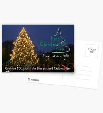 First Christmas Tree Commemorative Card Postcards