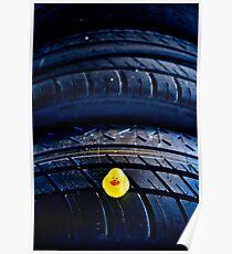 Tire pressure checker... Poster