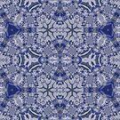 Blue Purple Sphere Dance One geometric abstract pattern - jenny meehan by JennyMeehan