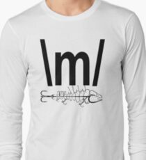 FISH TAIL HOOK INK , stickers, decal  Long Sleeve T-Shirt