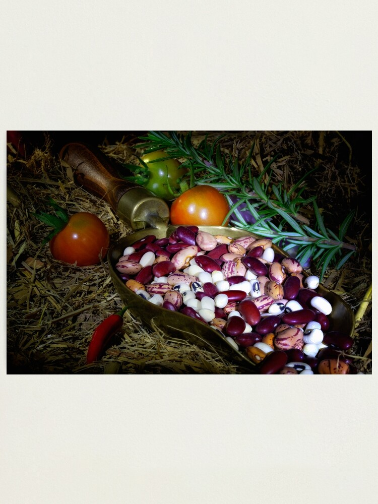 Alternate view of Still life beans & vegetable Photographic Print