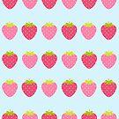 Strawberry pattern design by Angela Sbandelli