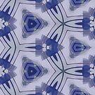 Blue Purple Sphere Dance Four geometric abstract pattern - jenny meehan by JennyMeehan