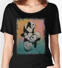 Panda Street Fight Women's Relaxed Fit T-Shirt