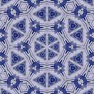 Blue Purple Sphere Dance Five geometric abstract pattern - jenny meehan by JennyMeehan