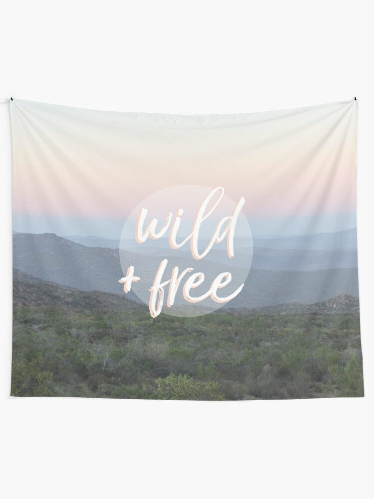 Alternate view of Wild and free serene landscape Tapestry