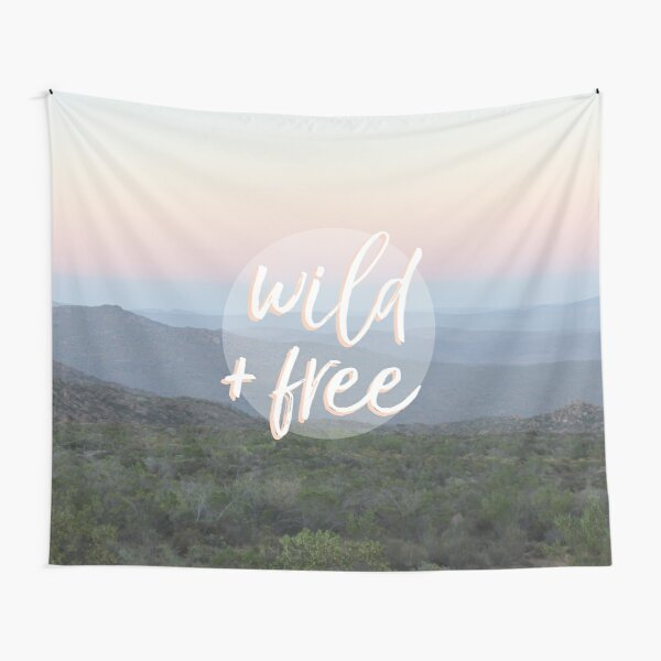 Wild and free serene landscape Tapestry