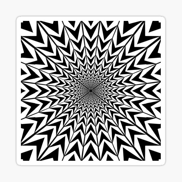 #Design, #abstract, #pattern, #illustration, psychedelic, vortex, modern, art, decoration Sticker