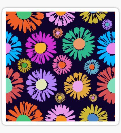 New Pop Art Daisies Glossy Sticker